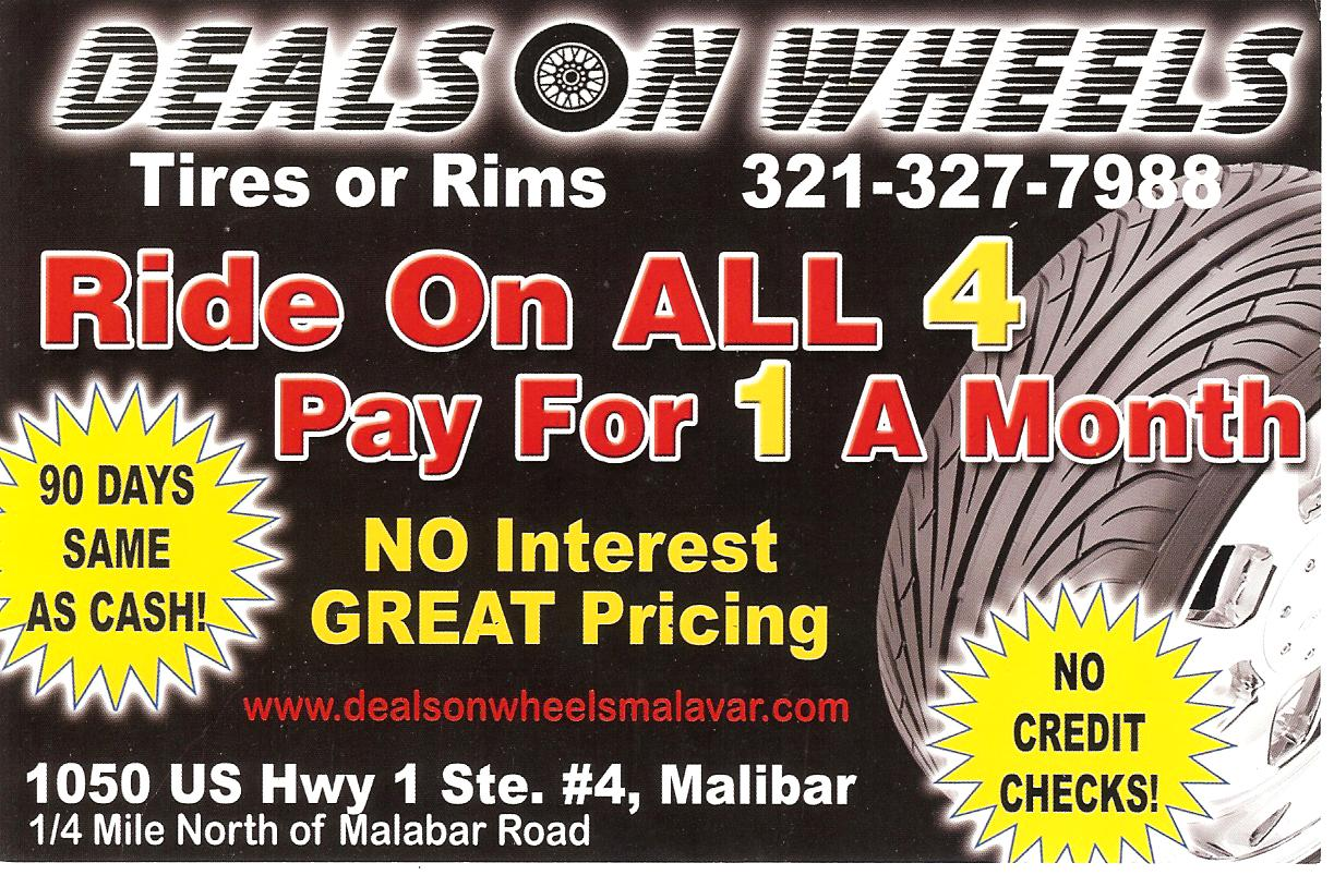 Deal On Wheels Malabar FL 321-327-7988 Best deal on rims and tires