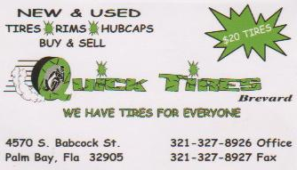 New & Used Tires 321-327-8926