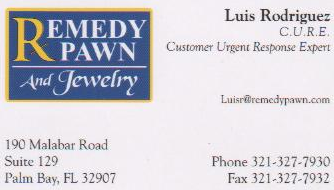 Remedy Pawn And Jewelry 321-327-7930