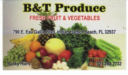 Produce fresh fruit and vegetables